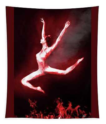 Fire Dancer Tapestry