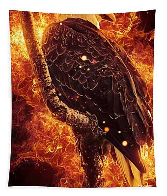 Tapestry featuring the photograph Fire Eagle by Matthew Nelson