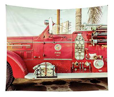 Fire Engine 767 Tapestry