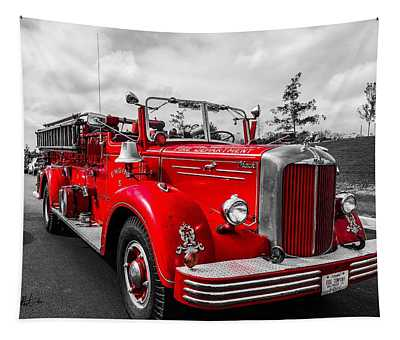 Fire Engine Tapestry
