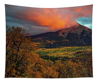 Tapestry featuring the photograph Fire Sky by John De Bord