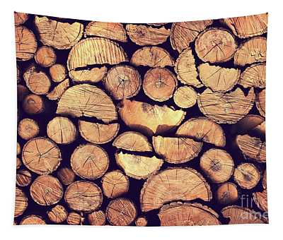 Firewood Logs Tapestry