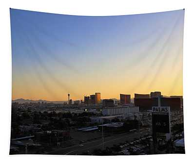First Light Cityscape Tapestry