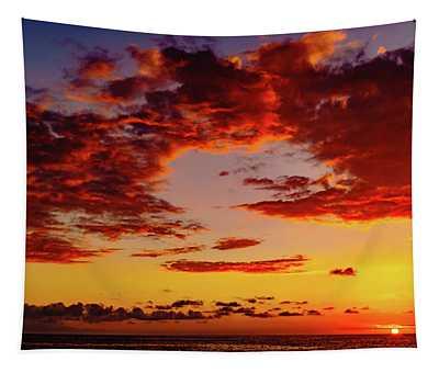 First November Sunset Tapestry