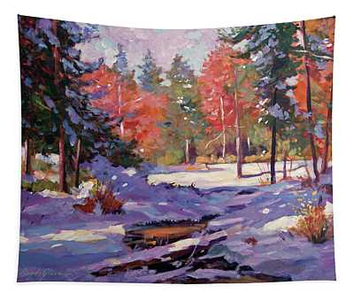 First Snow Autumn Tapestry