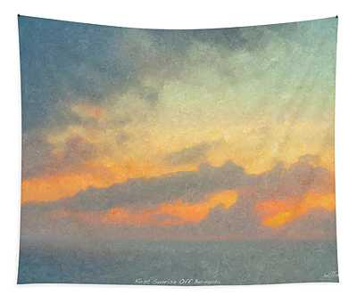 First Sunrise Off Bermuda Tapestry