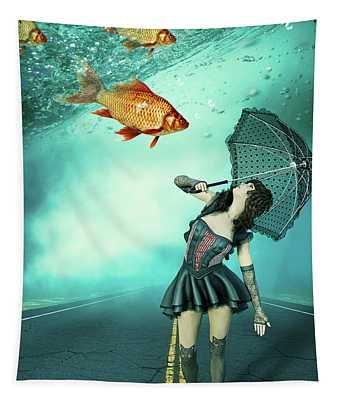 Fish Rain Tapestry