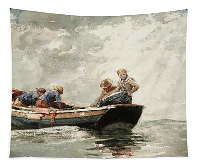 Fisher Folk In A Dory, 1881 Tapestry