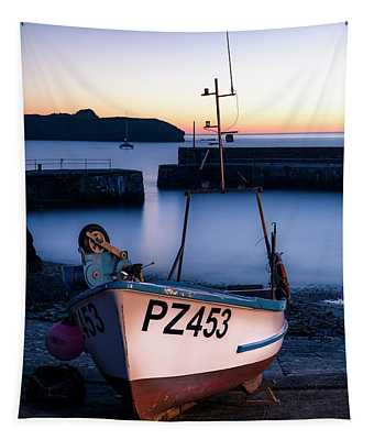 Fishing Boat In Mullion Cove Tapestry