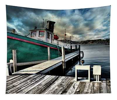 Fishing Boat In Saugatuck Tapestry