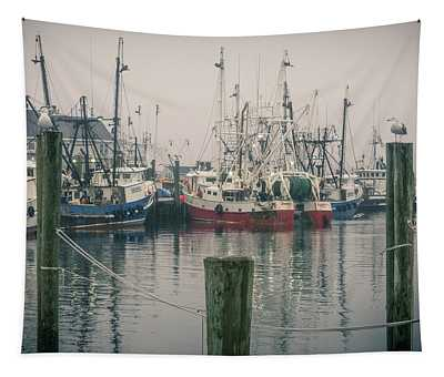 Tapestry featuring the photograph Fishing Boats by Steve Stanger