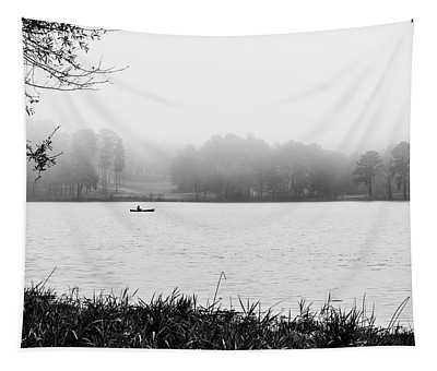 Fishing In The Fog Tapestry