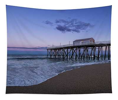Fishing Pier Sunset Tapestry