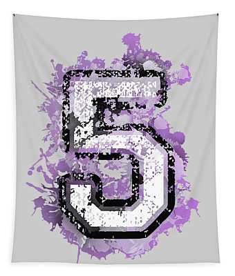 Five Over Violet Stain Tapestry