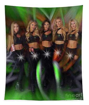 Five Star Monster Energy Girls  Tapestry