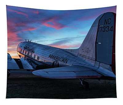 Flagship Detroit At Sunrise Tapestry