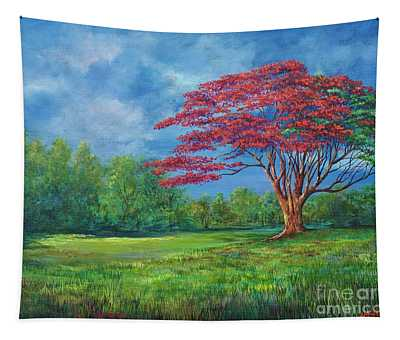 Flame Tree Tapestry