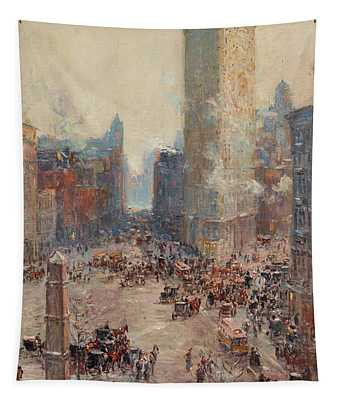 Flat Iron Building Tapestry