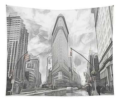Flatiron Sketch Tapestry