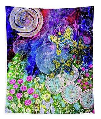 Flight Of The Lunar Moths Tapestry