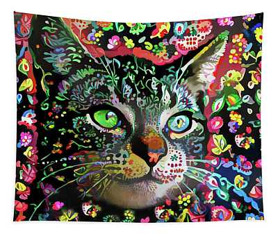 Flora The Tabby Cat Tapestry