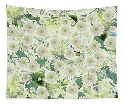 Floral Flurry Green Cream Tapestry