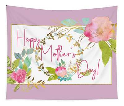 Floral Mother's Day Art Tapestry