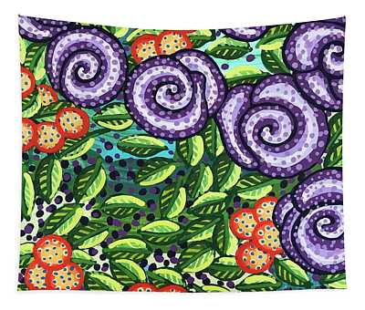 Floral Whimsy 11 Tapestry