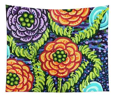Floral Whimsy 5 Tapestry