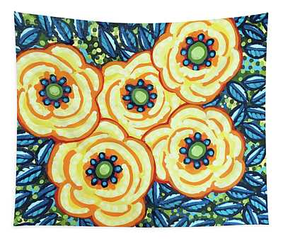 Floral Whimsy 7 Tapestry