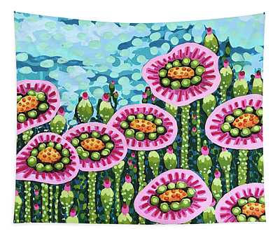 Floral Whimsy 8 Tapestry