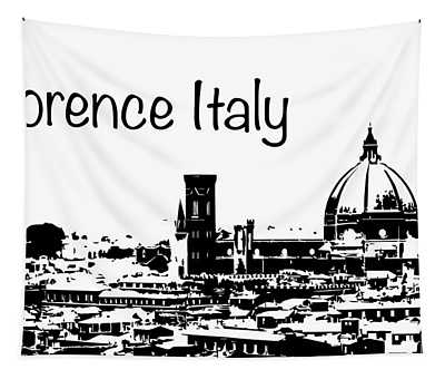 Florence Italy Silhouette Tapestry
