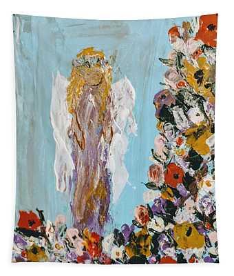 Flower Child Angel Tapestry