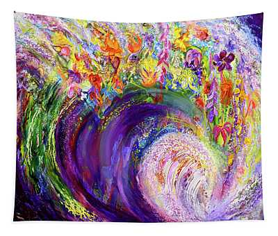 Flower Wave Tapestry