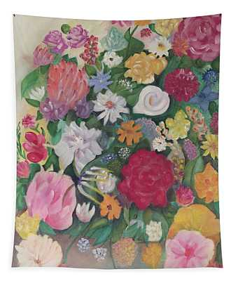 Flowers For Mom Tapestry