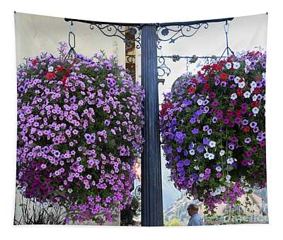 Tapestry featuring the photograph Flowers In Balance by Mae Wertz