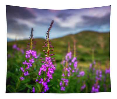 Flowery Sunset Tapestry
