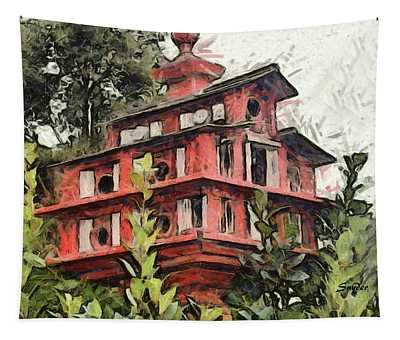 Birdhouse Bates Motel Tapestry