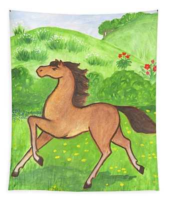 Foal In The Meadow Tapestry