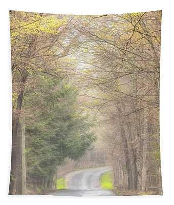 Foggy Way Tapestry