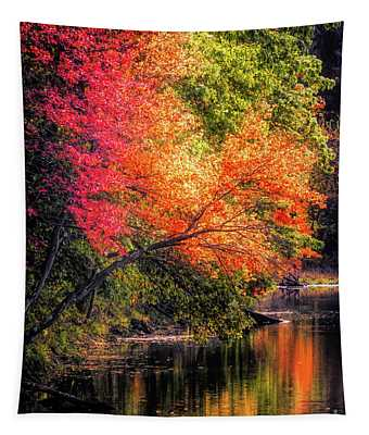Foliage Over Forge Pond Tapestry