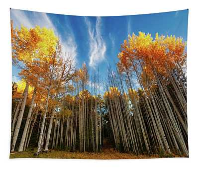 Follow The Yellow Leaf Road Tapestry