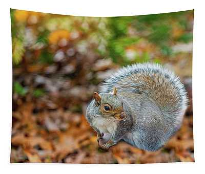 Foraging Squirrel Tapestry
