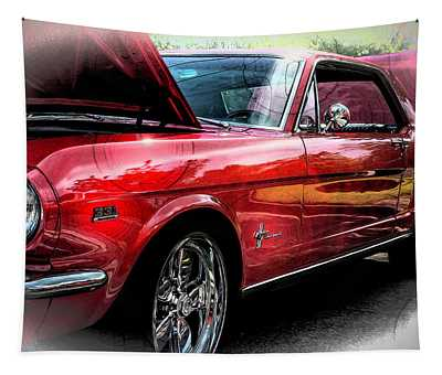 Ford Mustang Side Angle Tapestry