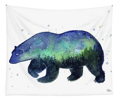 Forest Bear Galaxy Tapestry