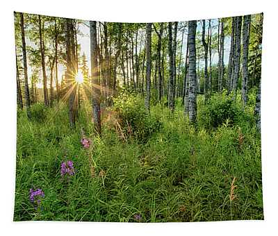 Forest Growth Alaska Tapestry