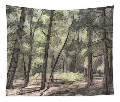 Forest Light Sketch Tapestry
