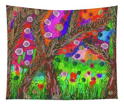 Forest Of Many Colors Tapestry