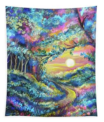 Forest Sun Rising Tapestry