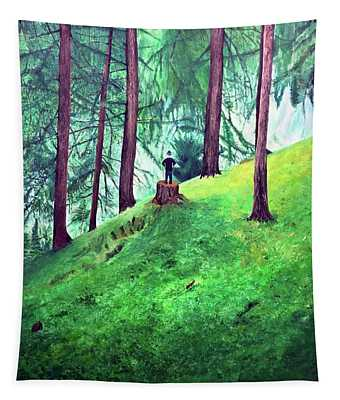Forest Through The Trees Tapestry